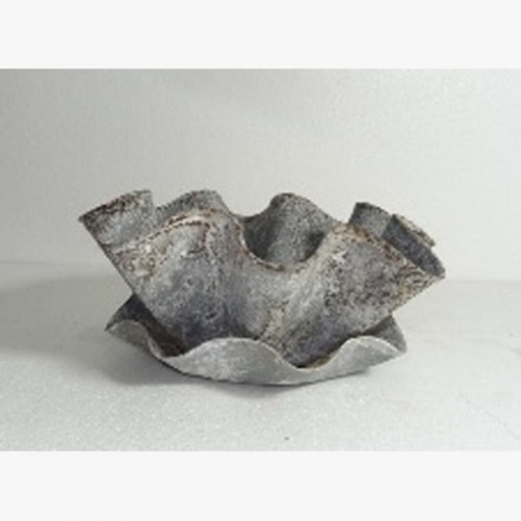 Kerchief Planter With Saucer>