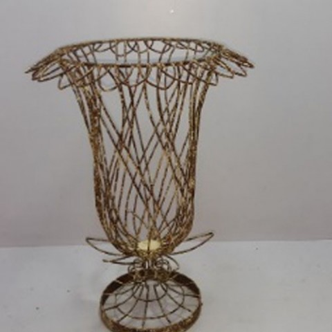 Hand Made Wire Work Urn>