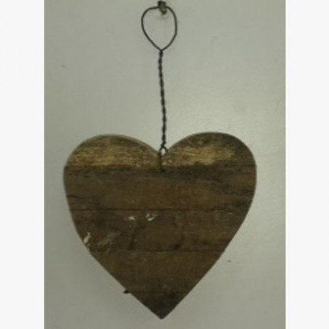 Recycle Wooden Heart Ornament>